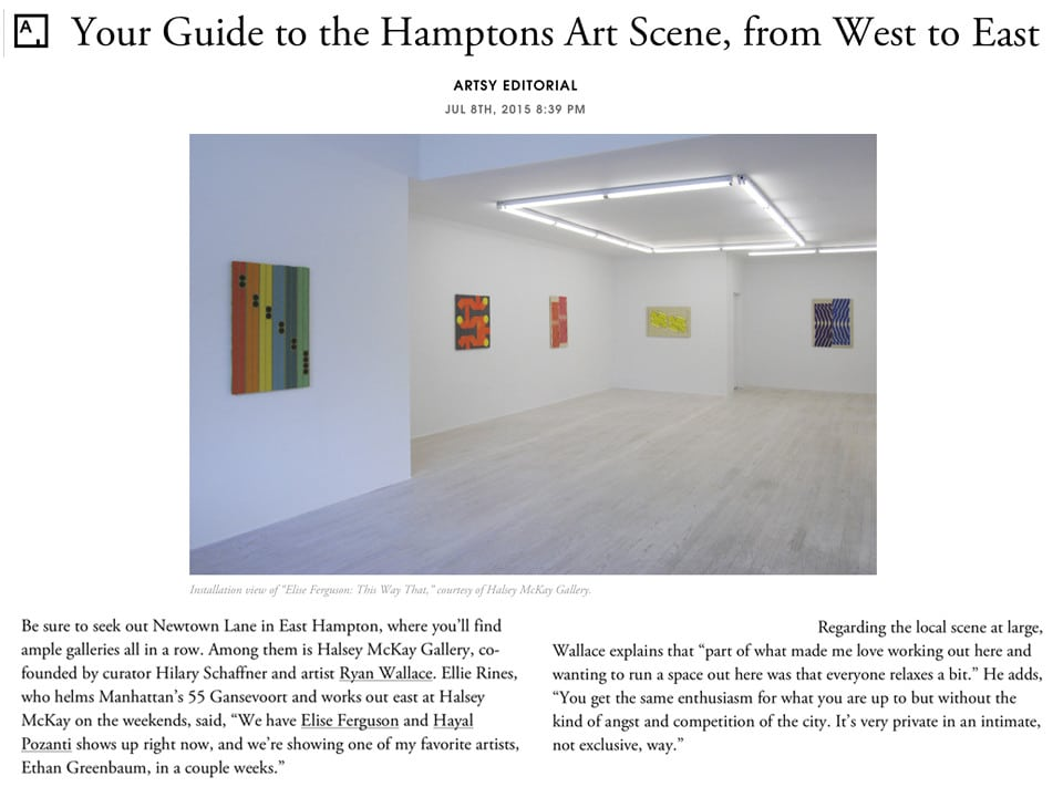 Artsy Editorial Hamptons Guide 2015