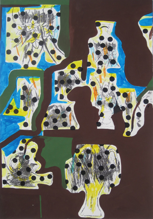 Untitled  (Notion XXVI), 2009 ink, gouache, and trasfer on paper 15