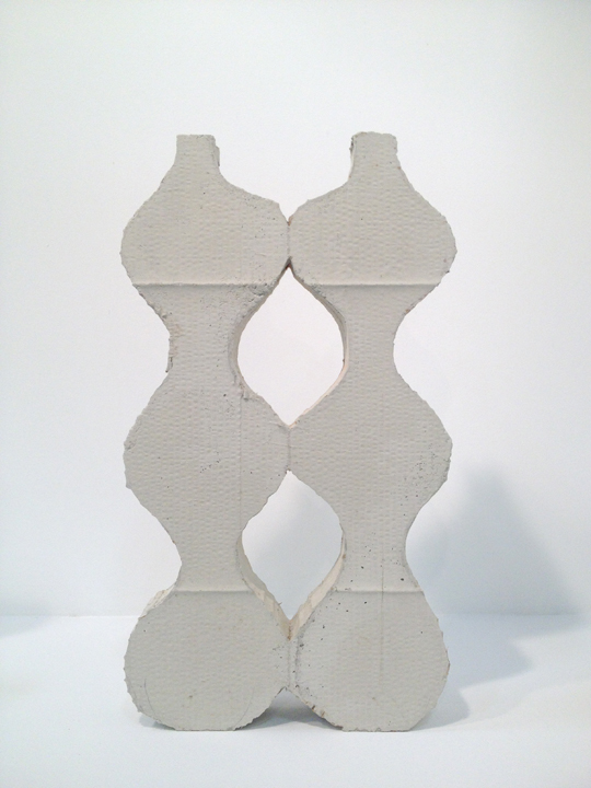 WEB Double Vase 2013, Cement 24.5 x 13.75 X 3.5 inches