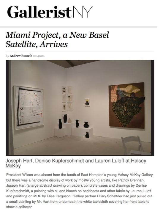 WEB Gallerist Miami Project