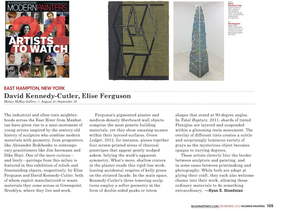 WEB Modern Painters Elise Ferguson & David Kennedy Cutler Review