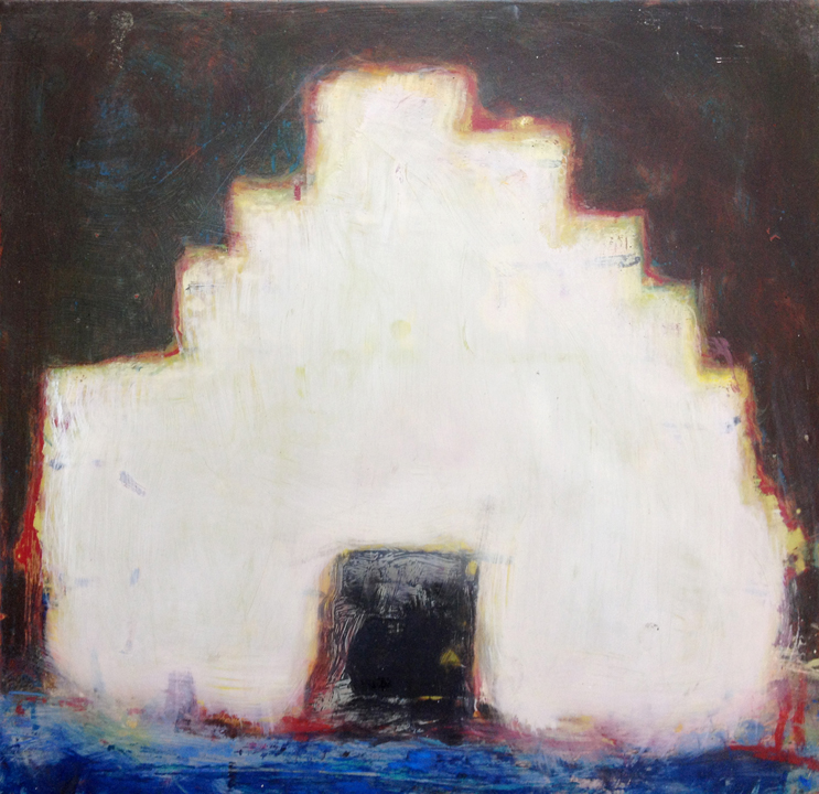 Chuck Webster, FORT, 2009-2012, Oil on board, 16 x 16 inches